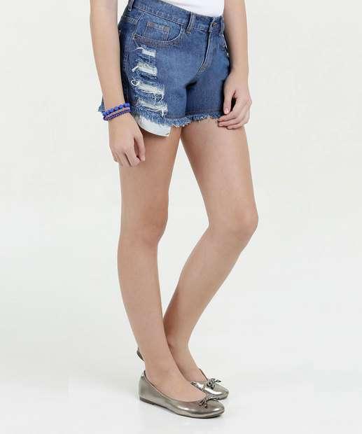 Image_Short Juvenil Jeans Puídos Marisa