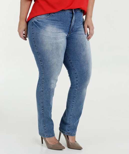 e8f1a3490 Calça Feminina Jeans Boot Cut Plus Size Biotipo