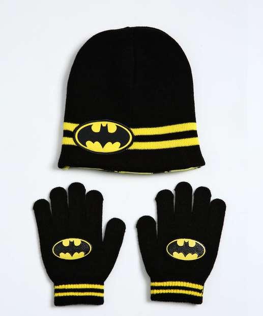 Image_Kit Gorro e Luva Infantil Batman Liga Da Justiça