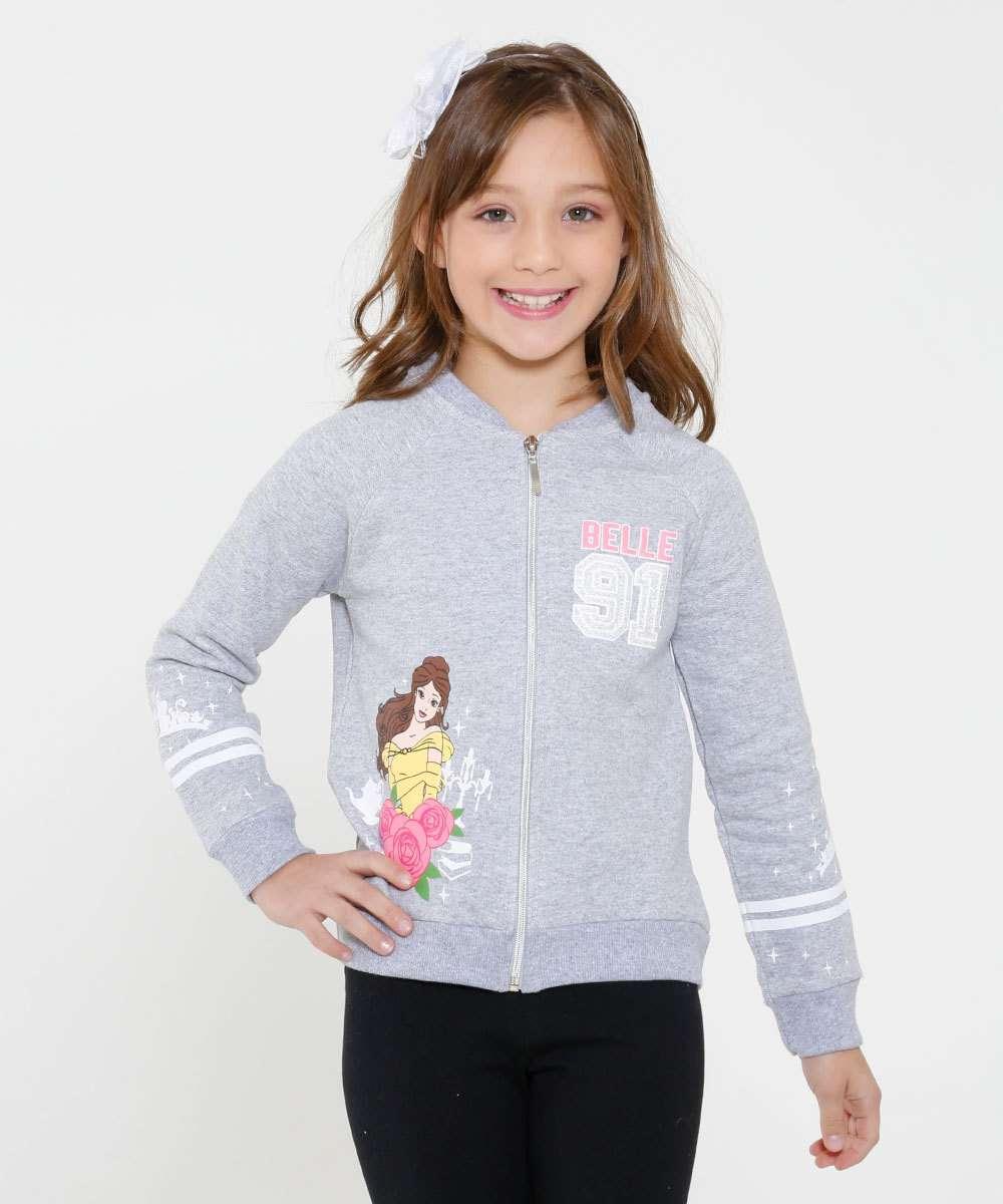 e7263e746 Casaco Infantil Moletom Princesa Bella Disney