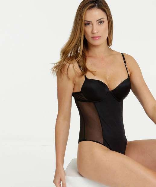 Image_Body Feminino Sensual Tule Alças Finas Marisa