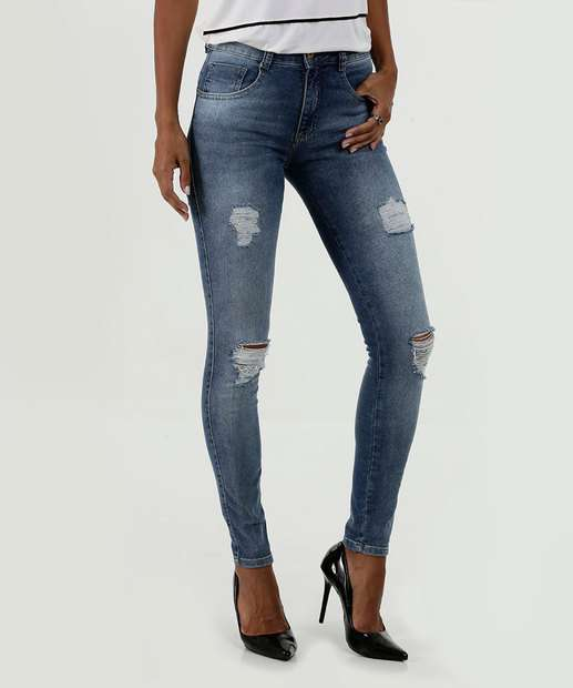 Image_Calça Feminina Jeans Destroyed Skinny Biotipo