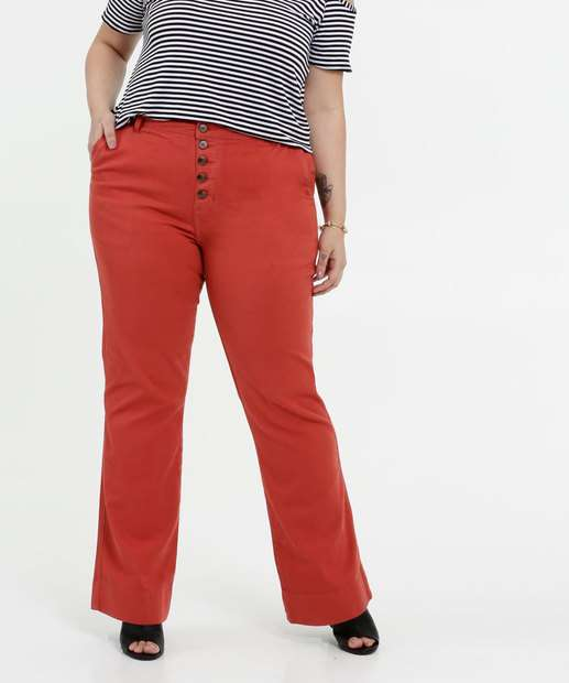 Image_Calça Feminina Jeans Flare Plus Size Marisa