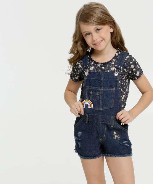 Image_Jardineira Infantil Jeans Destroyed Patches Marisa