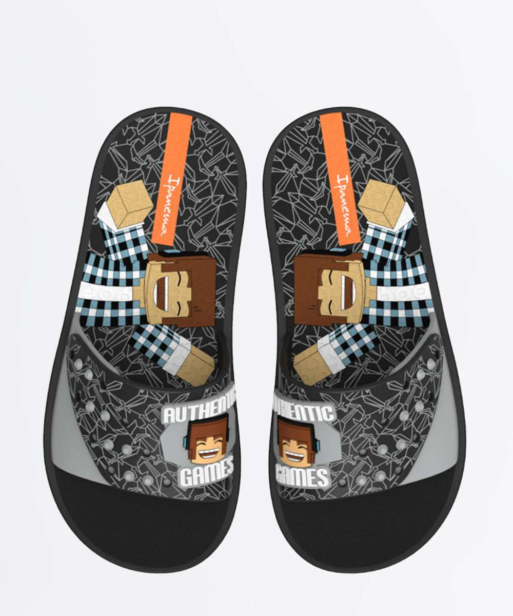 Chinelo Ipanema Infantil Slide Authentic Games