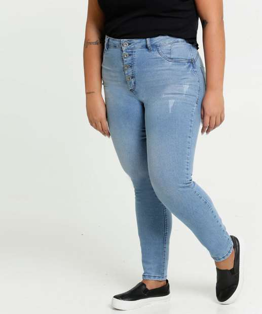 Image_Calça Jeans Puídos Skinny Feminina Plus Size