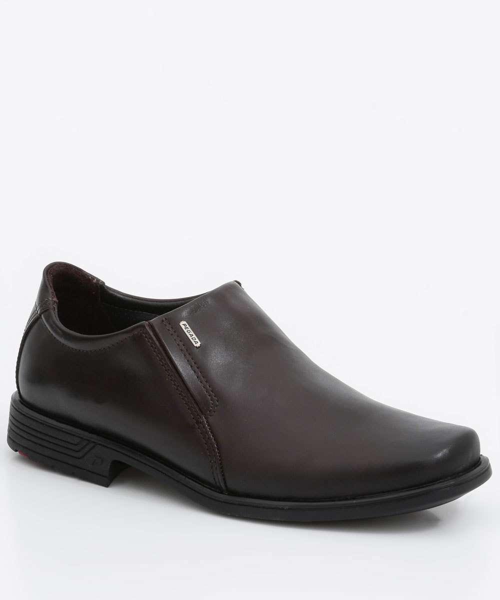 Sapato Masculino Social Slip On Verniz Pegada