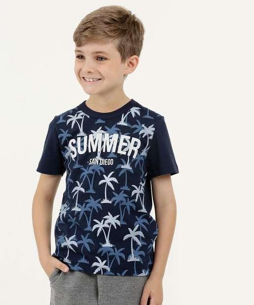Image_Camiseta Infantil Estampa Coqueiros Manga Curta