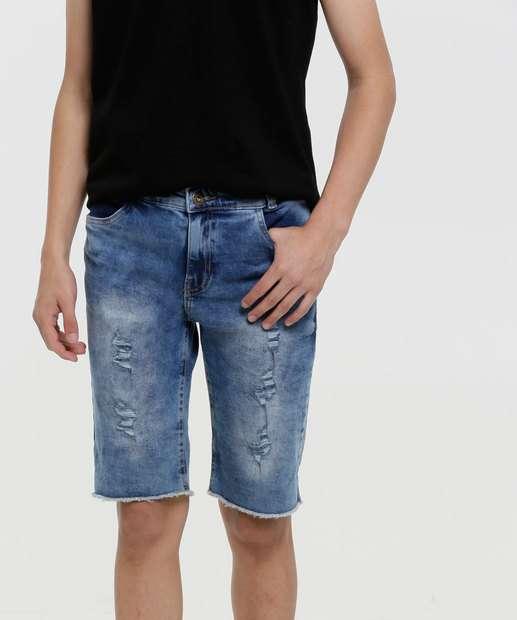 Image_Bermuda Juvenil Jeans Destroyed Tam 10 a 16