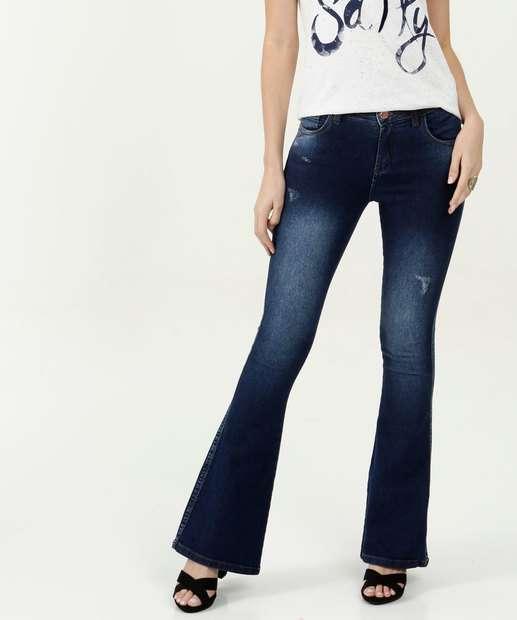 Image_Calça Feminina Flare Puídos Zune Jeans By Sabrina Sato