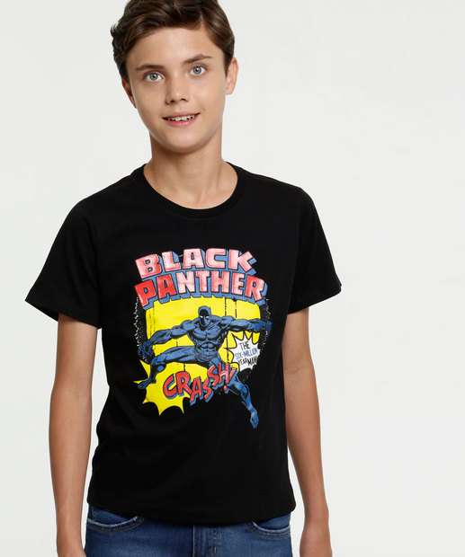 Image_Camiseta Juvenil Estampa Pantera Negra Marvel
