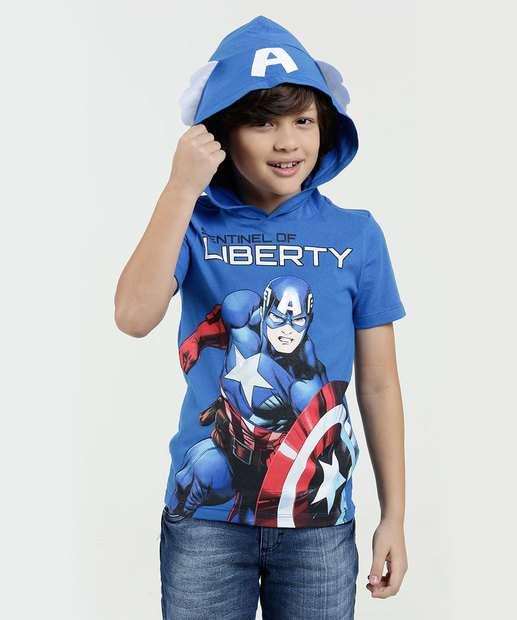 Image_Camiseta Infantil Estampa Capitão América Capuz Marvel