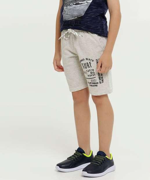 Image_Bermuda Infantil Moletinho Estampa Frontal