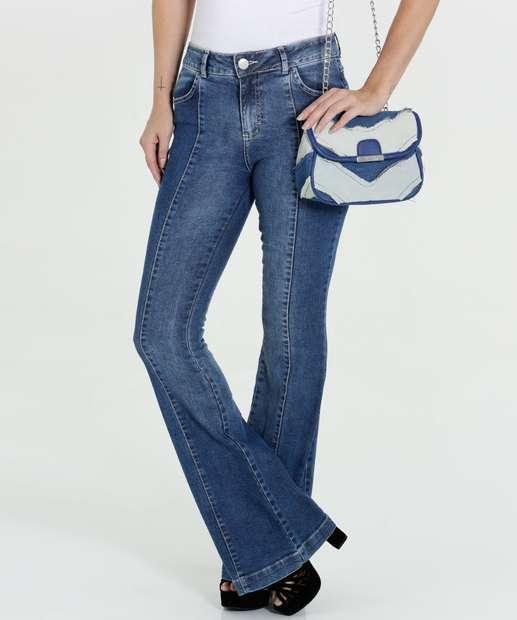 Image_Calça Feminina Jeans Flare Gups