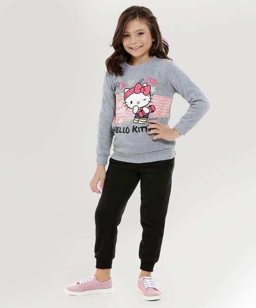 Image_Conjunto Infantil Moletom Hello Kitty Manga Longa Sanrio