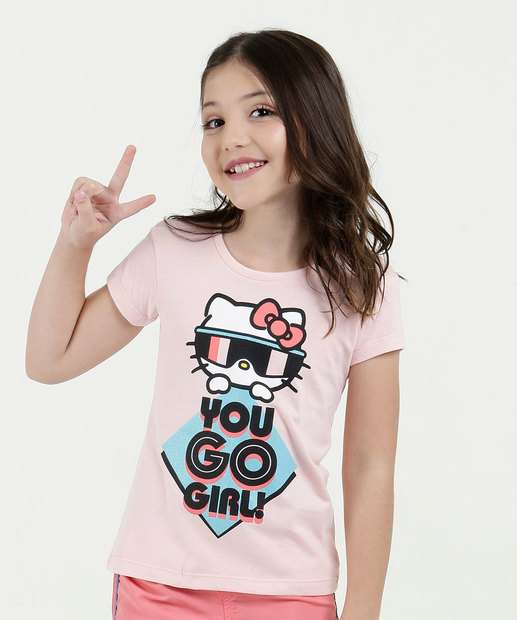 Image_Blusa Infantil Manga Curta Hello Kitty Sanrio