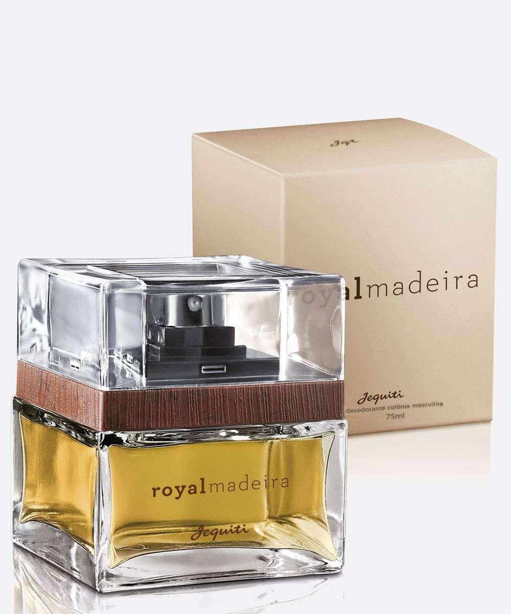 Desodorante Colônia Masculino Royal Madeira Jequiti 75ml