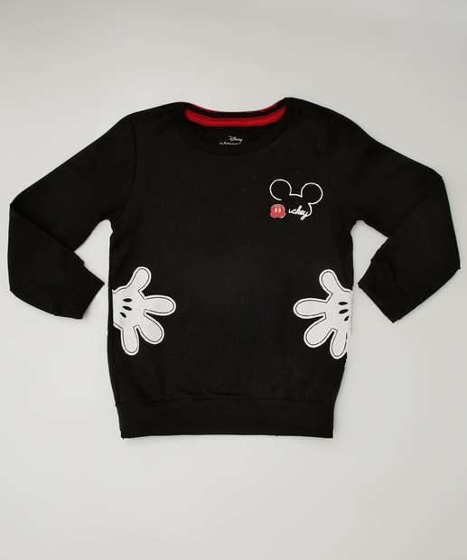 f67280136 Blusão Infantil Moletom Estampa Mickey Disney