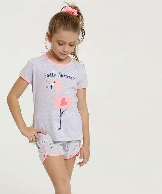 Image_Pijama Infantil Estampa Flamingo Brinde Marisa