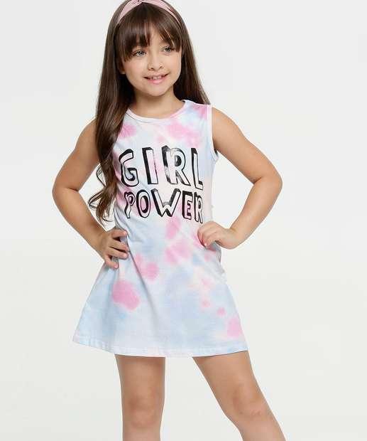 Image_Vestido Infantil Estampa Tie Dye Sem Manga Brandili
