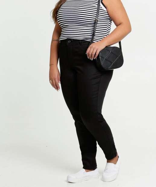Image_Calça Feminina Sarja Skinny Plus Size Razon