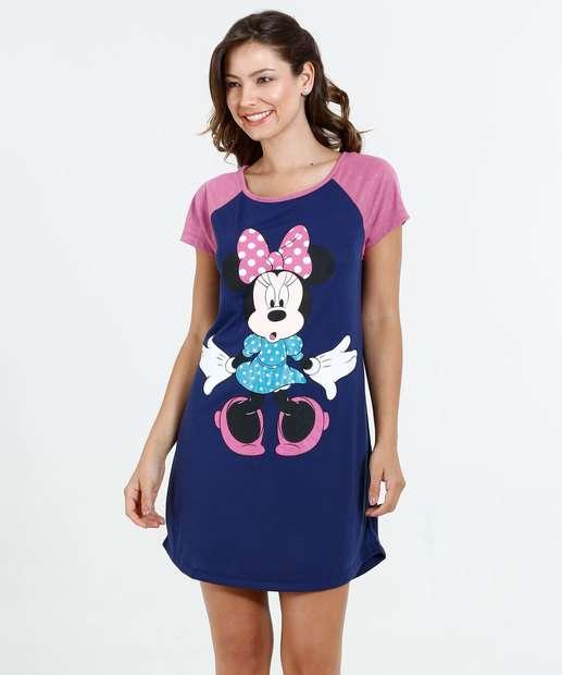 Image_Camisola Feminina Manga Curta Minnie Disney