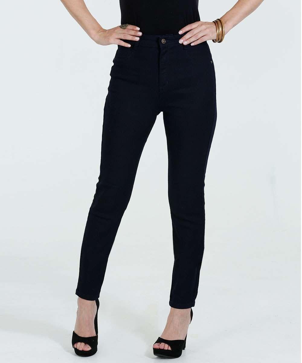 2a5599ba2 Calça Feminina Cigarrete Jeans Cintura alta Marisa