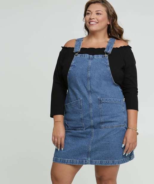 Image_Salopete Plus Size Feminina Jeans Marisa