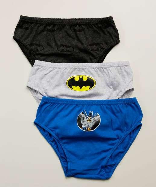 Image_Kit 3 Cuecas infantil Estampa Batman Warner Tam 2 a 10