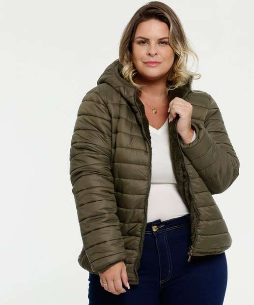 Image_Casaco Feminino Puffer Pelúcia Dupla Face Plus Size Marisa