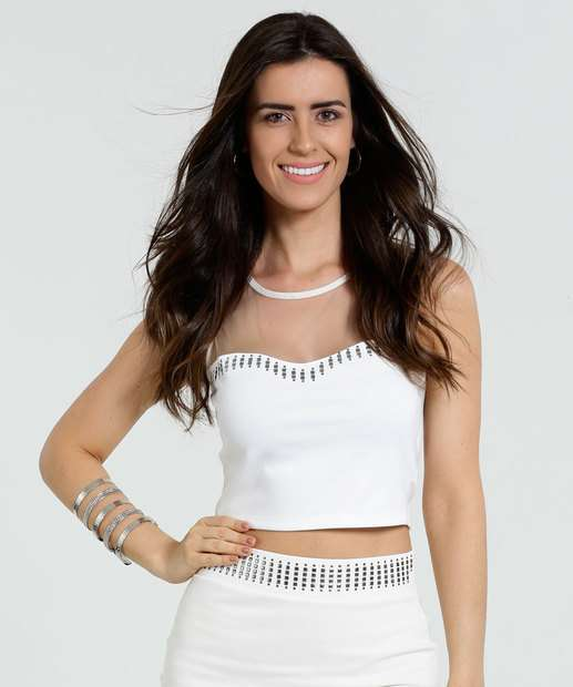 Image_Blusa Feminina Cropped Tule Tachas Marisa