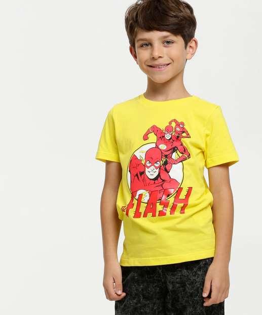 Image_Camiseta Infantil Estampa Flash Liga da Justiça