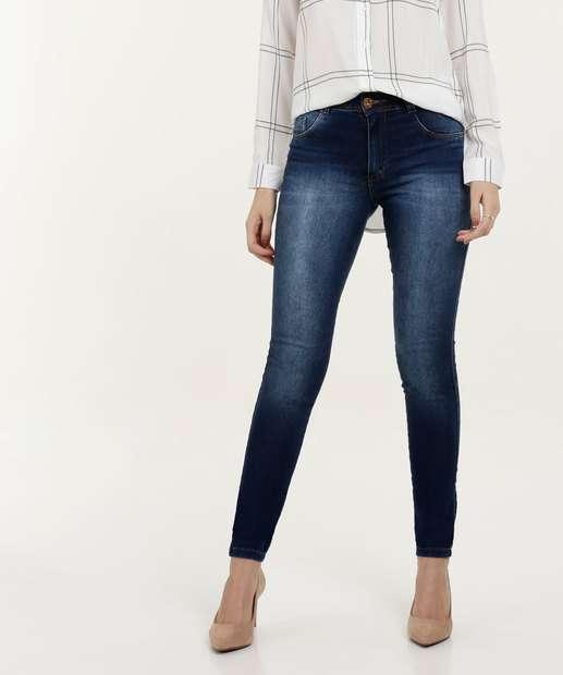 492e70cae Calça Feminina Jeans Skinny Cintura Média Biotipo