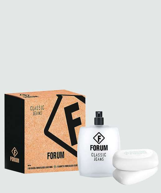 Image_Kit Perfume Unissex Jeans Deo Colônia e 2 Sabonetes Forum Beauty 100ml