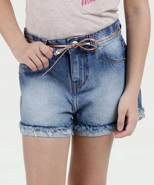 Image_Short Infantil Jeans Cintinho Marisa