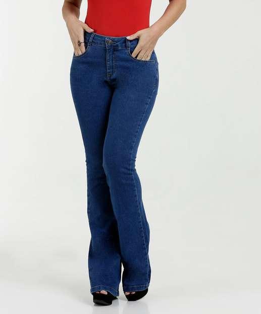 Calça Feminina Jeans Flare Cintura Média Marisa 3a2bd6783ef