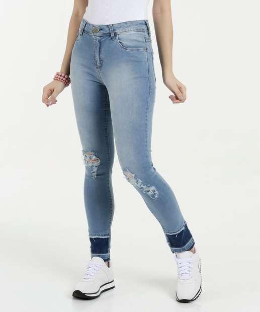 Image_Calça Feminina Jeans Skinny Destroyed Five Jeans