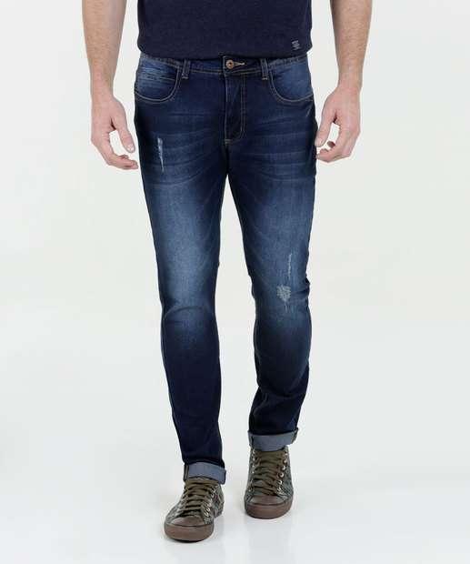 Image_Calça Masculina Jeans Skinny Barra Dobrada Marisa