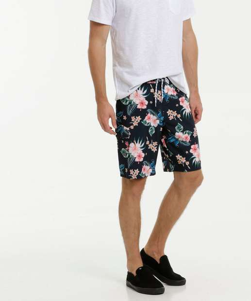 Image_Bermuda Masculina Surf Estampa Tropical MR