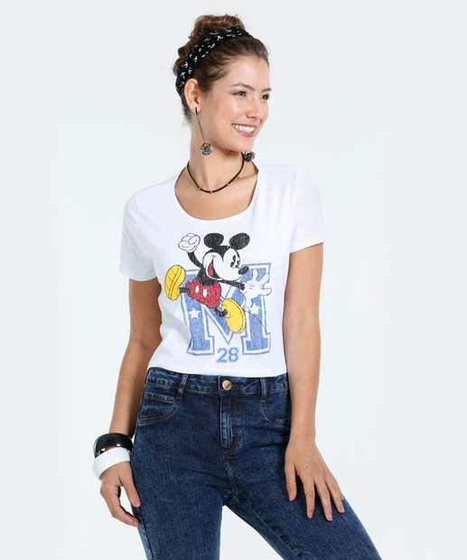 Image_Blusa Feminina Cropped Mickey Manga Curta Disney