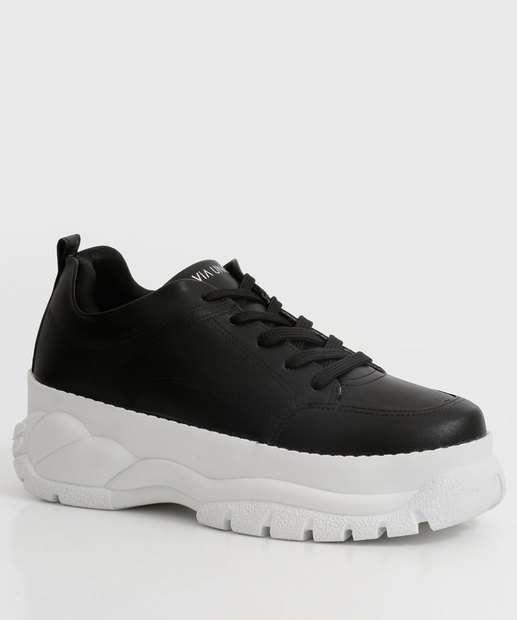 Image_Tênis Feminino Chunky Sneaker Recorte Via Uno