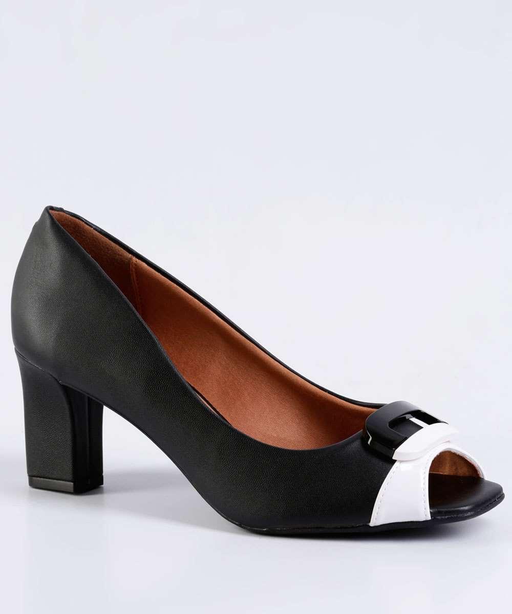 b5d4d6070 Sapato Feminino Peep Toe Detalhe Amarração Vizzano | Menor preço com ...