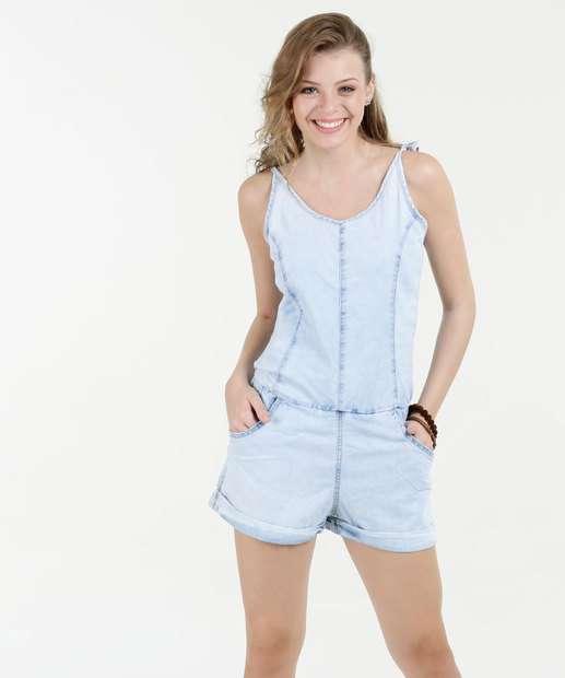Image_Macaquinho Feminino Jeans Alças Finas Razon