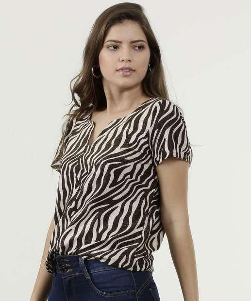 Image_Blusa Feminina Estampa Animal Print Lurex Gups