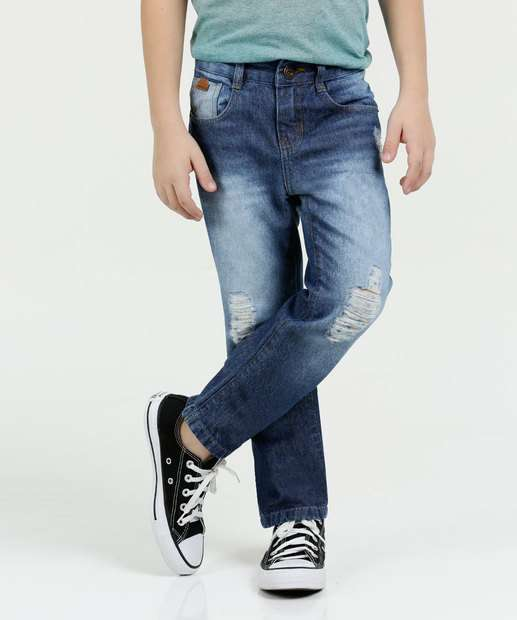 Image_Calça Infantil Jeans Puídos Marisa