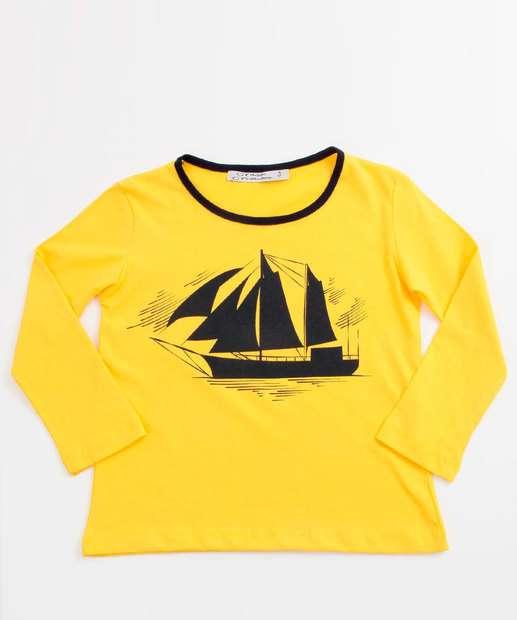 Image_Camiseta Infantil Estampa Barco Manga Longa