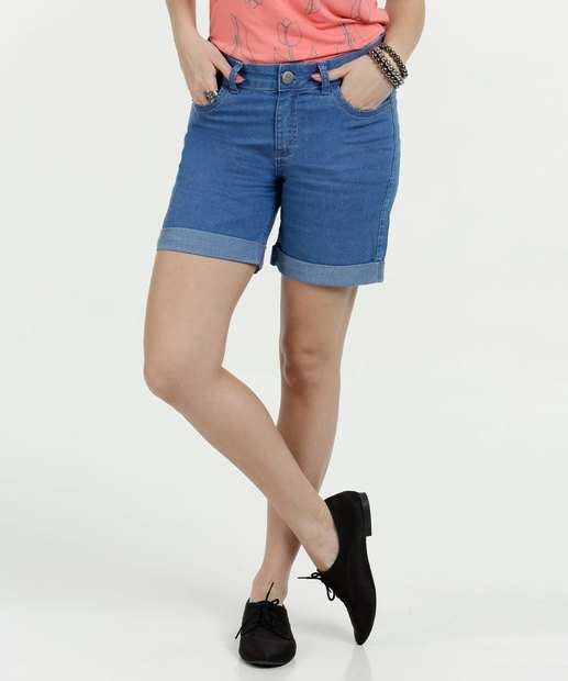 Image_Bermuda Feminina Jeans Stretch Cintura Baixa Marisa