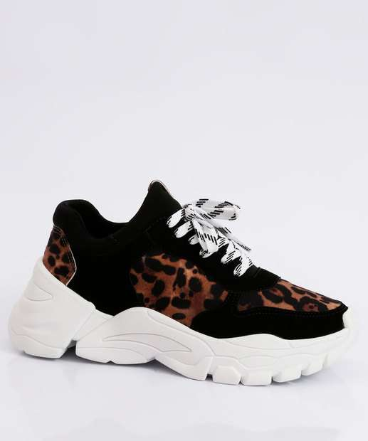 Image_Tênis Feminino Chunky Sneaker Animal Print