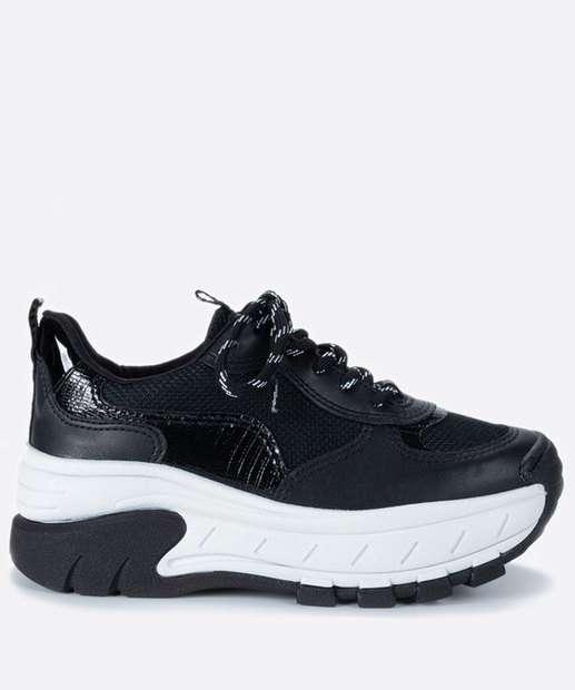 Image_Tênis Feminino Sneaker Tratorado Recorte Dakota