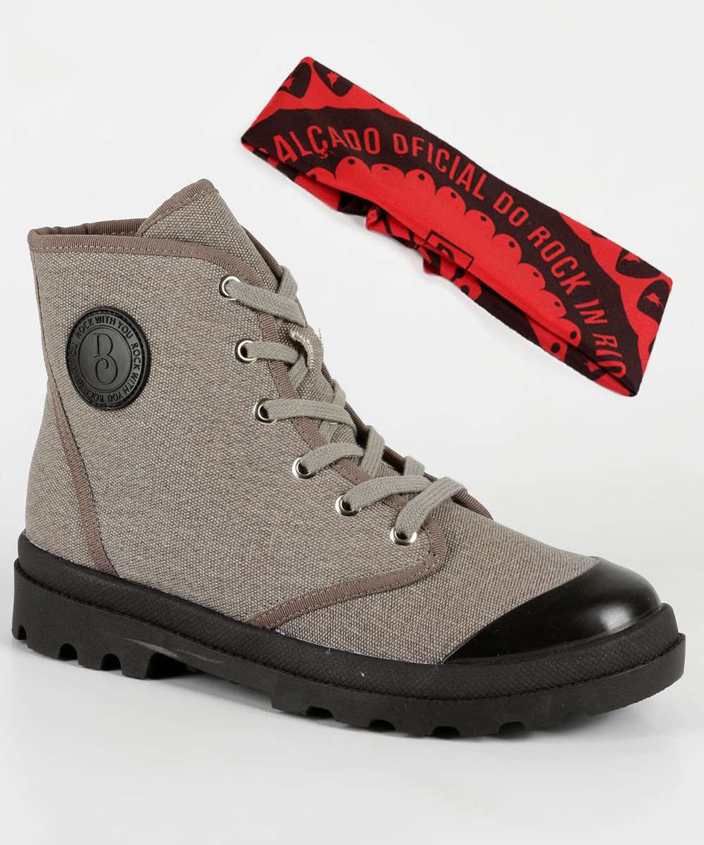 Bota Feminina Coturno Brinde Rock With You Bebecê